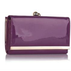 Peňaženka lakovaná Limi, fialová 16049