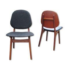 Located using retrostart.com > Model No. 75 Dinner Chair by Arne Hovmand Olsen for Onsild Stolefabrik