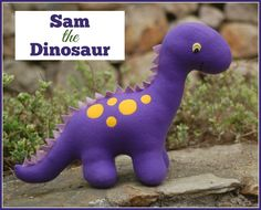 Roar! Meet Sam the Dinosaur! Sew this fun, friendly dinosaur as a gift for any dinosaur-loving child in your life. Sam is very cuddly and fun to play with. He's machine washable and very sturdy....