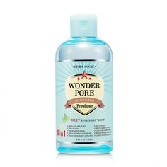 "Etude House WONDER PORE Freshner 250ml	 Features	      Pore astringent toner with antiseptic properties removes oil, dirt, germs	     and residues for clear, healthy skin.	     ""Astringentlex : Pore Constriction	      Chrysanthemum : Anti-Inflammatory Car 12.31"