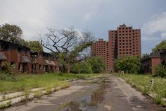 Brewster Housing Projects  The scariest buildings in Detroit.  NO ONE goes near them.  There's not even any graffiti on them.