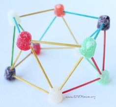 This is a great engineering challenge idea for all ages. Build gumdrop structures out of toothpicks and gumdrops. Printable lesson plans are available.