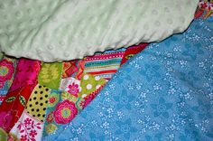 Homemade Baby Blankets.