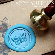 1pcs Beautiful Butterfly Gold Plated Wax by HappyJewelrySupplies, $9.80