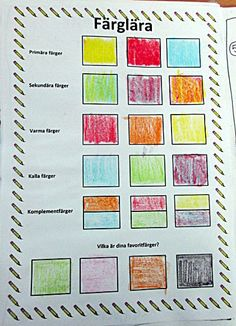 IMG_2679 Color Theory, Art Lessons, Teaching, School, Blog, Crafts, Handmade, Mind Maps, Classroom Ideas