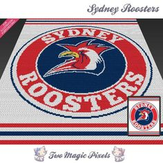 Looking for your next project? You're going to love Sydney Roosters C2C Crochet…