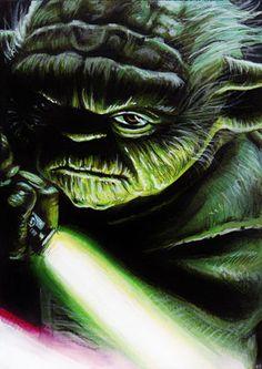 """Ahead...go. My day, you may make."" Star Wars - Yoda by Trev Murphy"
