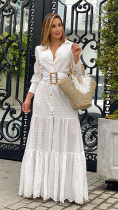 Elegant Dresses For Women, Stylish Dresses, Cute Dresses, Beautiful Dresses, Casual Dresses, Fashion Dresses, Summer Dresses, Dress Neck Designs, White Gowns