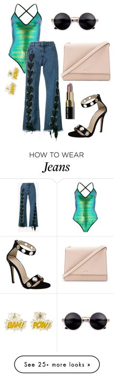 """""""Lace up Jeans"""" by mack-et-la-mode on Polyvore featuring River Island, Marques'Almeida, Kate Spade and Bobbi Brown Cosmetics"""