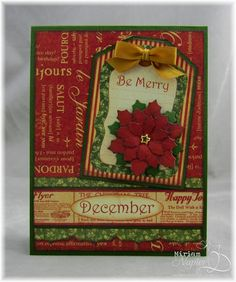 Miriam's Delirium: Graphic 45 December card