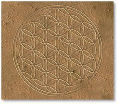 flower of life at the Oseireon, Abydos temple - Egypt