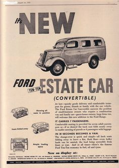 1950 Ford Ten Ten Estate Car Wagon Ad | Flickr - Photo Sharing!
