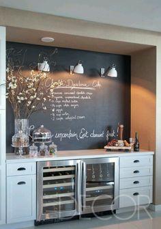 I've always wanted a chalkboard wall!!!