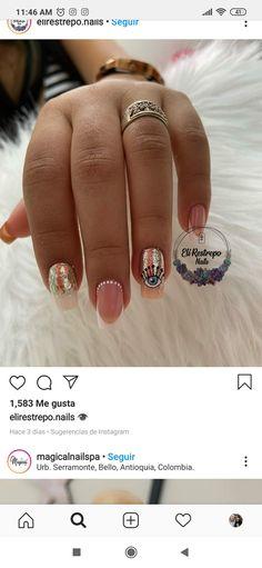 Nail Manicure, Pedicure, Long Acrylic Nails, Cute Nails, Nail Designs, Nail Art, Beauty, Instagram, Modern Nails