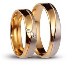 Znalezione obrazy dla zapytania obrączki ślubne białe i żółte złoto