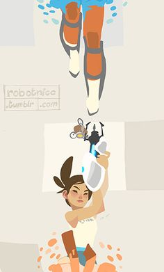 Finallly finisehd Portal 2. Here's a Chell drawing! 8)