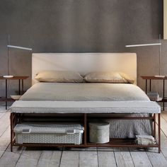 Explore Bed by Cosatto The simplicity of the design of this bed highlights its elegance. Cosatto is well-known for its curls, but this bed is as elegant and modern as every amazing Cosatto's piece. The wrought iron frame allows the bed to be reliable, durable and resistant.