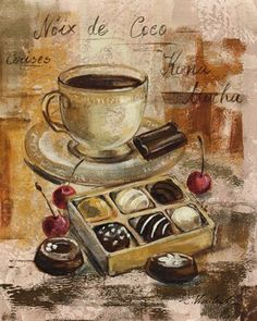 coffee and choclates...doesn't get better than this
