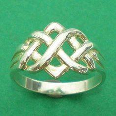 Irish Celtic noeud infini Eternity Ring une bande 925 par yhtanaff, $26.00