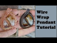 Heady Style Wire Wrapped Pendant Tutorial, Rough Stones/Crystals - YouTube