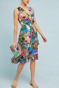 3afb35c939367 Anthropologie Daphne Wrap Dress Wedding Sweater, Summer Sundresses, Ladies  Dress Design, Spring Work