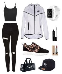 """""""Nike outfit"""" by magicalunicornfluff on Polyvore featuring Mode, Topshop, NIKE, Marc Jacobs und New Era"""