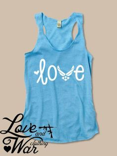 Love Air Force racer back tank top @Adélaïde Michel ...