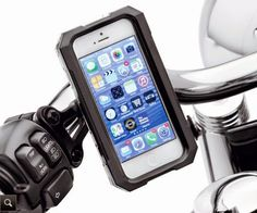 Designed for life on the road, this rigid rain and dust resistant case protects your phone from the elements during all kinds of riding conditions. | Harley-Davidson Water Resistant Handlebar Mount Phone Carrier