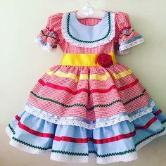 Vestido para princesas caipiras