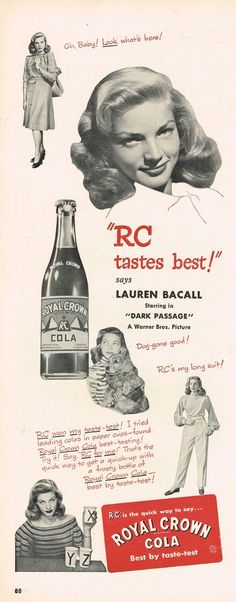 Lauren Bacall for RC Cola