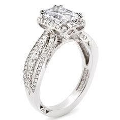 I like this but with a round diamond.   Tacori 2641ECP Engagement Ring - Tacori - Engagement Rings - Genesis Diamonds