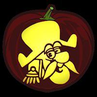 Captn Crunch - Pumpkin Stencil