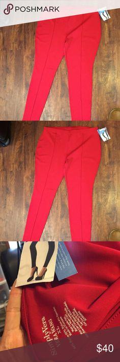 Red pants Red pants size XL simplyvera  Vera wang 64%rayon 33% nylon 4% spandex Simply Vera Vera Wang Pants Leggings