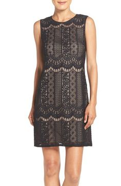 Free shipping and returns on Adrianna Papell Lace A-Line Dress (Regular & Petite) at Nordstrom.com. Meticulous lace patterns add to the light look and feel of this comfortable after-hours dress.