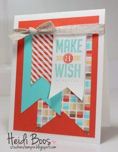 Stylin' Stampin' INKspiration: Happy, Happy Birthday!, Heidi Boos, Stampin' Up!, Perfect Pennants