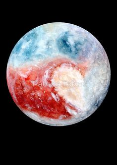 Watercolour painting of the planet Pluto. / All other planet-designs as well as a compilation of all planets available! All Planets, Space Planets, Space And Astronomy, Planet Project, Planet Painting, Planet Drawing, Hawaiianisches Tattoo, Planet Design, Planet Tattoos