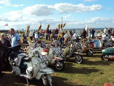 Scooters at Ryde seafront at Isle Of Wight scooter rally 2010 # # #