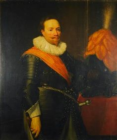 Jan Anthonisz van Ravesteyn (and studio), Portrait of an Officer, dated: A° 1621, Mauritshuis (Inv. 414)