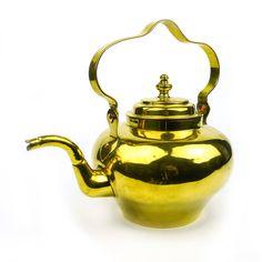 18th Century Dutch Brass Tea Pot Circa 1785