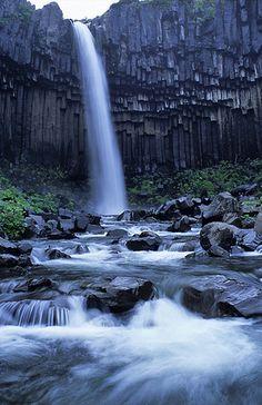 Svartifoss, Skaftafell National Park  Flickr