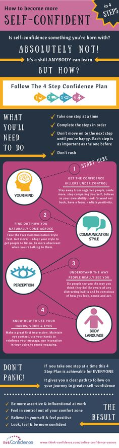 How to gain confidence in 4 Steps Infographic