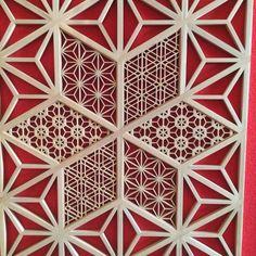 クルーズトレイン ななつ星in九州  の内装の組子も木下さんが製作されたそうです。  釘などを使用せず木を組み付ける繊細な技術と  その仕上がりの美しさに感動しました。