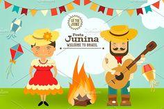 Festa Junina - Brazil Festival by elfivetrov on @creativemarket