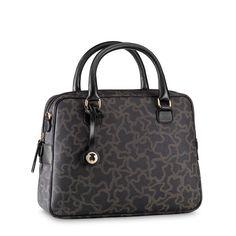 Black-camel color TOUS Kaos New collection KN-201 model handbag