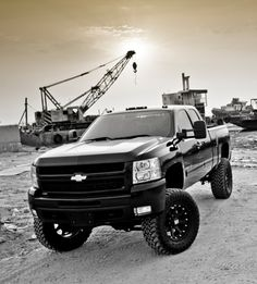 A brand new chevy with a lift kit!!