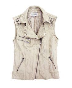 Punk Pleated Biker Vest with Zips