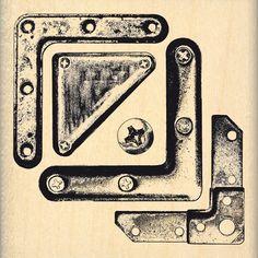 Tampon bois COINS MÉTAL Stencil Font, Diy And Crafts, Paper Crafts, Pocket Letters, Tampons, Vintage Ephemera, Journal Pages, Steampunk, Symbols