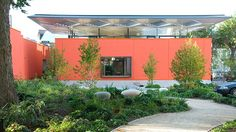 The first purpose-built Maggie's Centre in England was opened in A flexible space, designed by Rogers Stirk Harbour + Partners to be welcoming and uplifting,. Richard Rogers, Dan Pearson, High Walls, Hospice, Open House, Container Gardening, Entrance, Centre, England