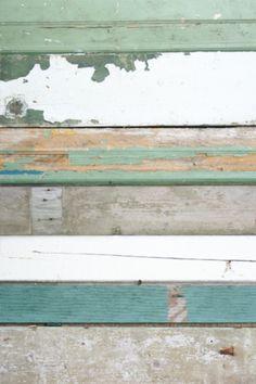 sloophout behang groen.