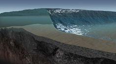 Birth of a Tsunami - learn how an earthquake on the ocean floor can cause an enormous wave - a tsunami.